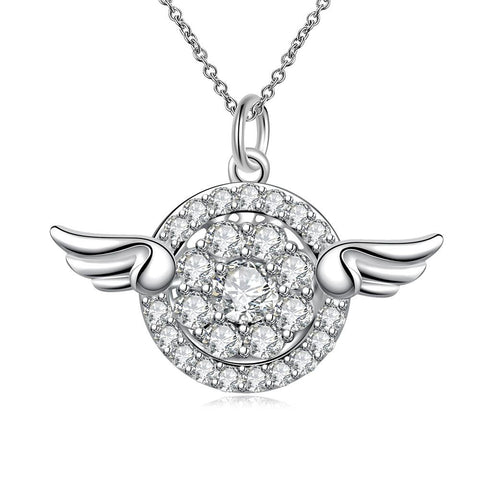 Wings Emblem Pendant Drop Necklace - rubiquejewelry.com
