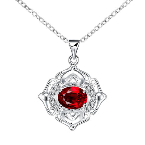 Petite Ruby Pendant Drop Necklace - rubiquejewelry.com