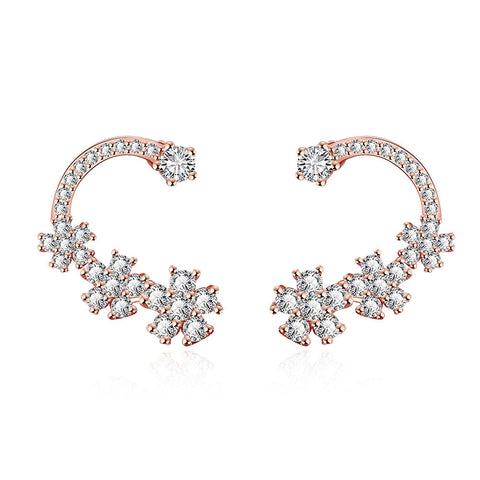 Rose Gold Plated Classic Ear Crawlers - rubiquejewelry.com
