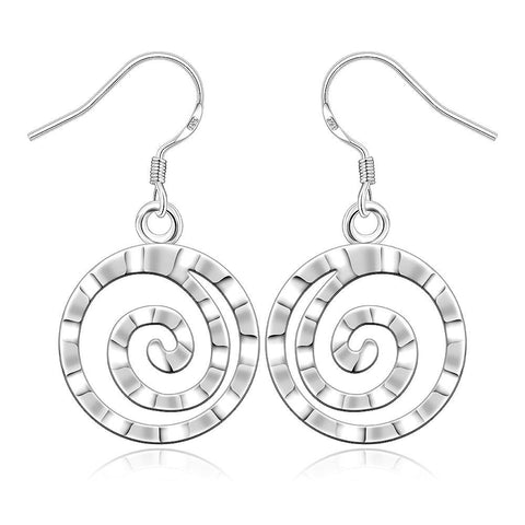 Sterling Silver Abstract Swirl Earring - rubiquejewelry.com
