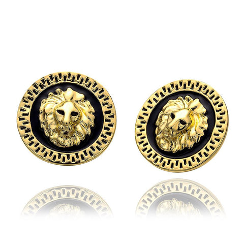 18K Gold Petite Stud Earrings Made with Swarovksi Elements - rubiquejewelry.com