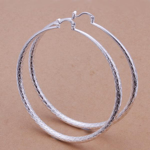 Sterling Silver Large Gap Classic Hoops - rubiquejewelry.com