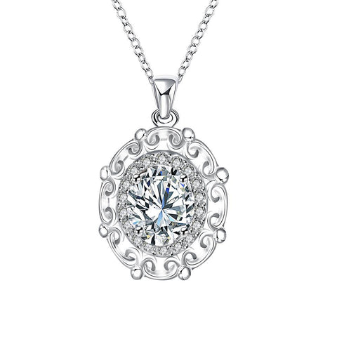 Crystal Stone Blossoming Pendant Drop Necklace - rubiquejewelry.com