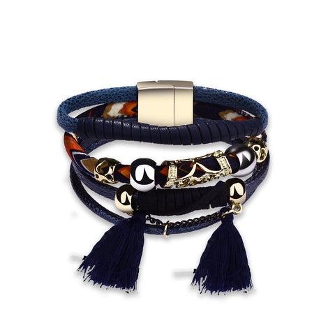 Swarovski Crystal Vegan Leather Bracelets - Style 338