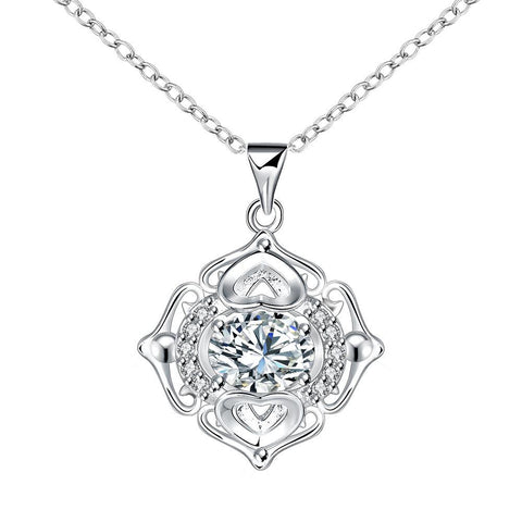 Petite Crystal Stone Pendant Drop Necklace - rubiquejewelry.com