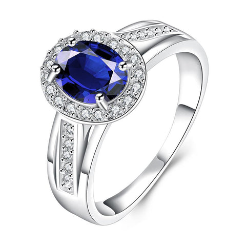 Mock Sapphire Jewels Covering Petite Ring - rubiquejewelry.com