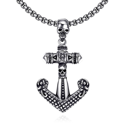 Anchor Stainless Steel Necklace - rubiquejewelry.com