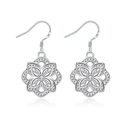 Hollow Floral Petal Drop Earrings - rubiquejewelry.com