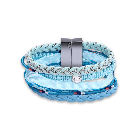 Swarovski Crystal Vegan Leather Bracelets - Style 329
