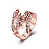 18K Rose Gold Classic Ariana Ring made with Swarovski Elements