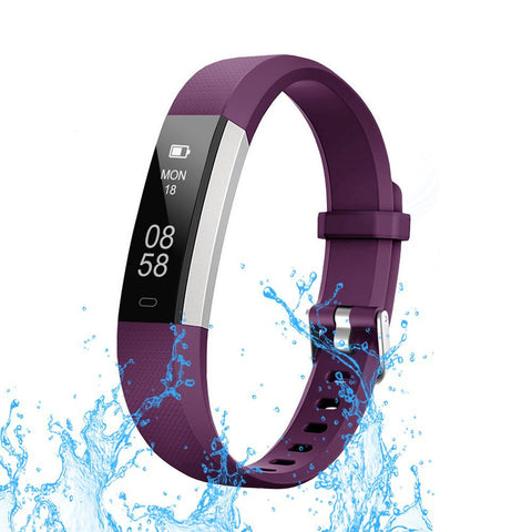 Swiss Time Smart Watch 115 Touch ID Screen for iPhone X and all Androids- Purple