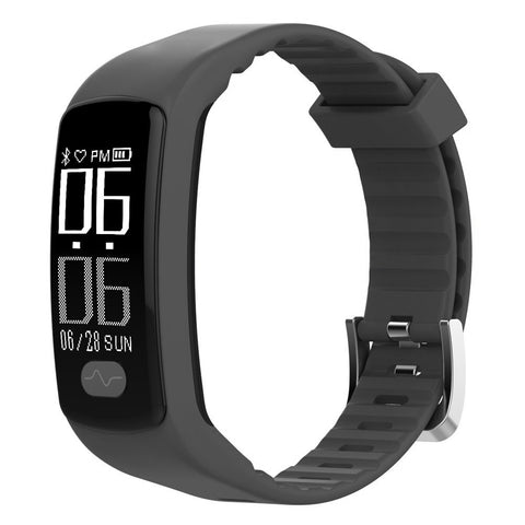 Bluetooth Smart Watch Waterproof Sports Smart Wrist Band Watch with Sleep Monitor, Smart Pedometer Watch for Step Distance Calories Track compatible with Android Phones IOS - Black