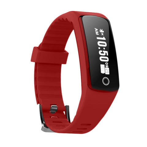 Bluetooth Smart Watch Waterproof Sports Smart Wrist Band Watch with Sleep Monitor, Smart Pedometer Watch for Step Distance Calories Track compatible with Android Phones IOS - Red
