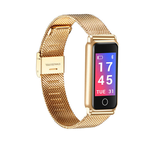 24K Gold Smart Watch X30 Steel Mesh with Find my iPhone & Siri Voice Assistant