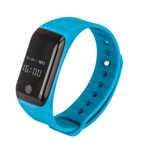 "Swiss-Time Smart Watch ""SPEED"" Bluetooth 4.0 IP65 Smart Bracelet OLED Touch Screen For IOS Android - BLUE"