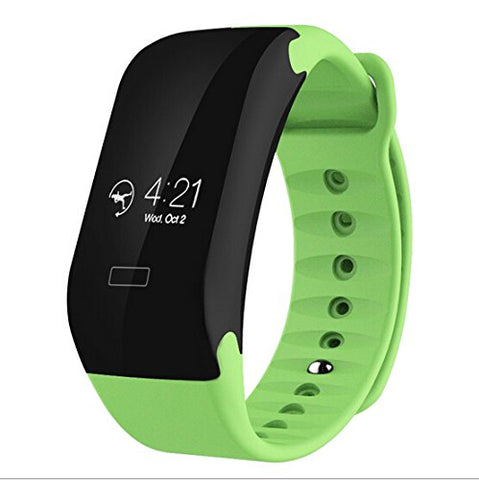 "Swiss-Time Smart Watch ""SPEED"" Bluetooth 4.0 IP65 Smart Bracelet OLED Touch Screen For IOS Android - GREEN"