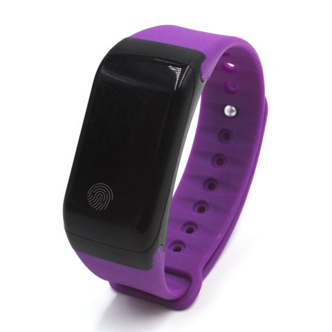 "Swiss-Time Smart Watch ""SPEED"" Bluetooth 4.0 IP65 Smart Bracelet OLED Touch Screen For IOS Android - PURPLE"