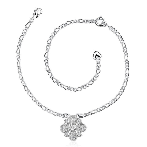 Jewels Clover Pendant Petite Anklet - rubiquejewelry.com