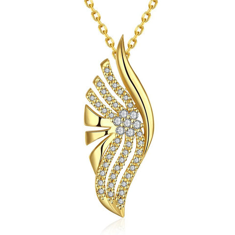 Gold Plated Blossoming * Pendant NEcklace - rubiquejewelry.com