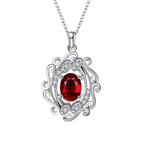 Blossoming Spiral Ruby Drop Necklace - rubiquejewelry.com