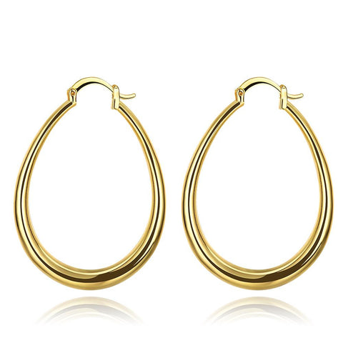Gold Plated Endless Hoop Earrings with Snap Backs - rubiquejewelry.com