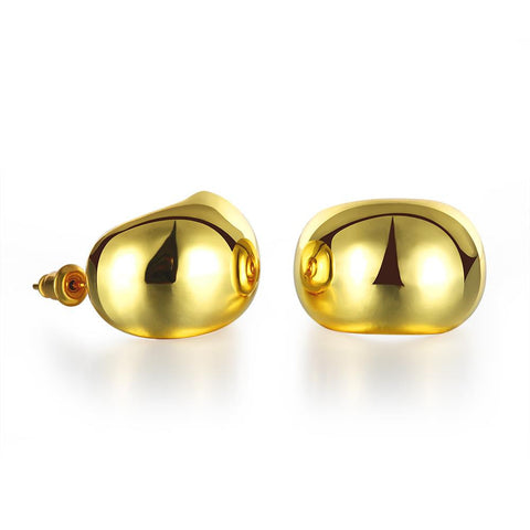 18K Gold Classic Stud Earrings Made with Swarovksi Elements - rubiquejewelry.com