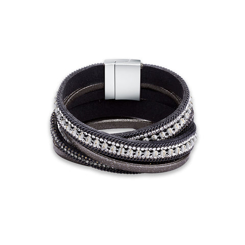 Swarovski Crystal Vegan Leather Bracelets - Style 334