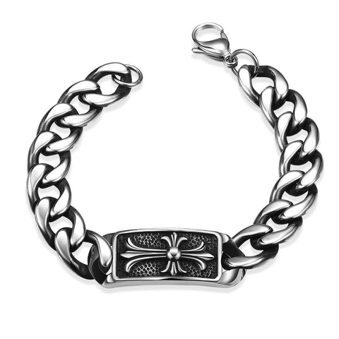 Abstract Emblem Stainless Steel Bracelet - rubiquejewelry.com