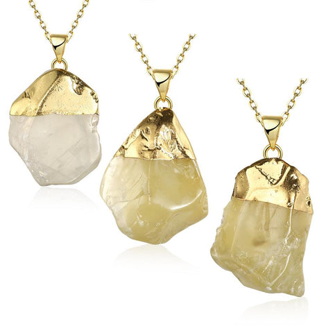 Agate Crystal Natural Crystal Necklace - rubiquejewelry.com