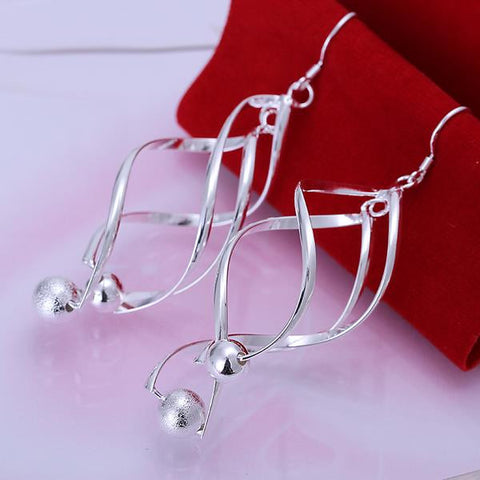Sterling Silver Interlocking Spiral Earring with Pearls - rubiquejewelry.com