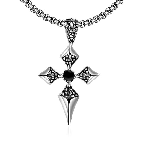 Thin Stainless Steel Cross Necklace - rubiquejewelry.com