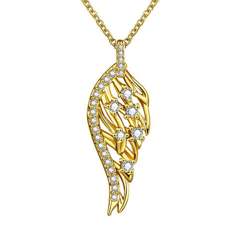 Gold Plated Abstract Emblem Necklace - rubiquejewelry.com