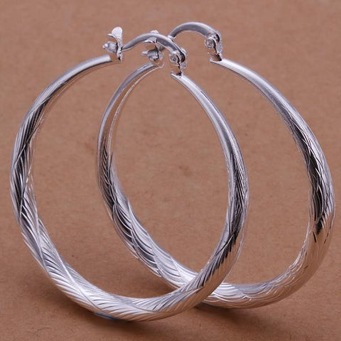 Sterling Silver Downtown Abbey Inspired Hoops - rubiquejewelry.com