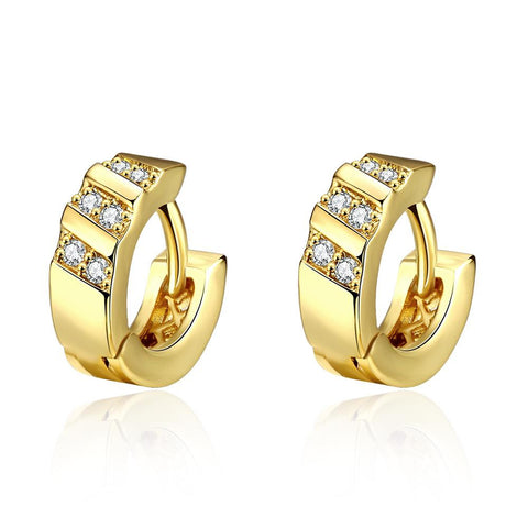 Gold Plated Tiffany Classic Inspired Mini Hoop Earrings - rubiquejewelry.com