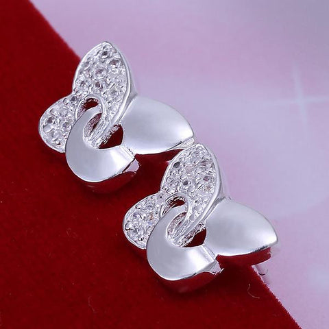 Sterling Silver Modern Twist To The Classic Butterfly Earring - rubiquejewelry.com