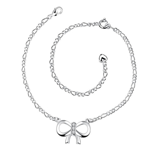 Large Love-Knot Pendant Anklet - rubiquejewelry.com