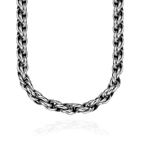 Classic New York Chain Stainless Steel Necklace - rubiquejewelry.com
