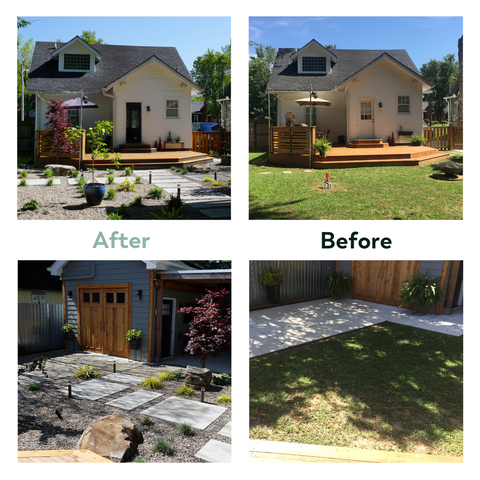 before after nashville landscape