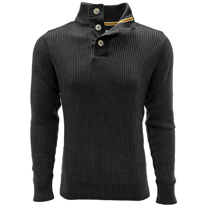 Carbon 3-Button Sweater