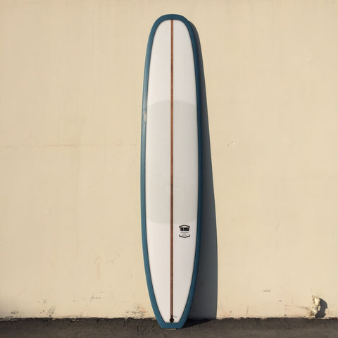 "THE GUILD 9'8"" NOSERIDER - CLEAR/OPAQUE BLUE"