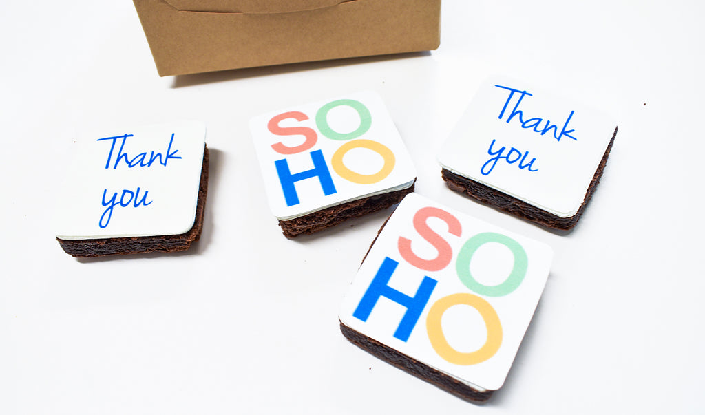 SOHO logo on brownies