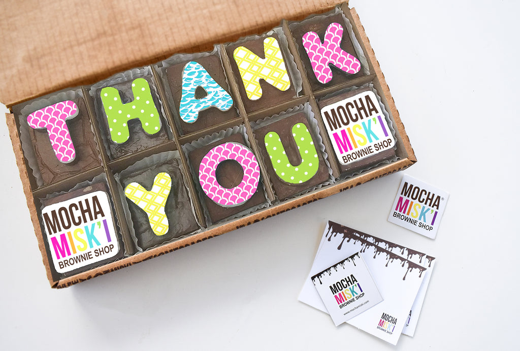Thank You Brownie Message with Logo
