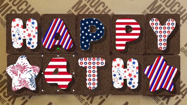 Happy 4th Brownie Message
