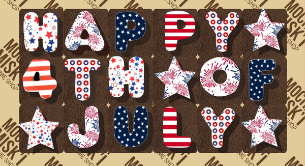 Happy 4th of July Brownie Message