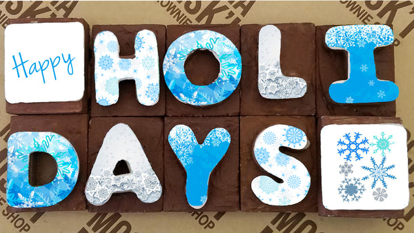 Mocha Misk'i - Holidays Brownie Message