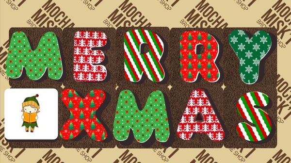 Merry Xmas Brownie Message
