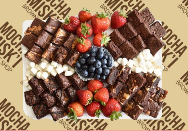 Brownies and Fruits Platter