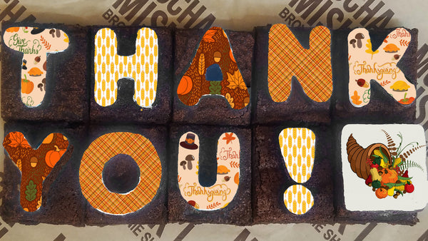 Thank You Thanksgiving Brownie Message