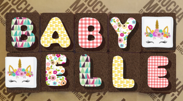 Baby Name Brownie Message