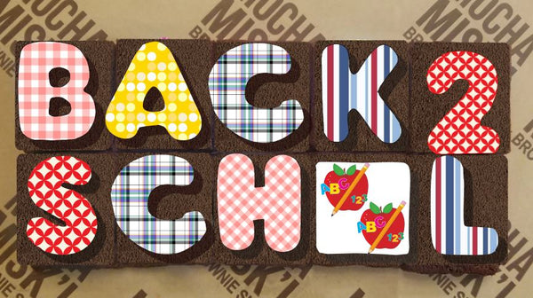 Back to school - Brownie Message Small